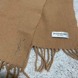 Authentic Yves Saint Laurent YSL Scarf Beige/Tan